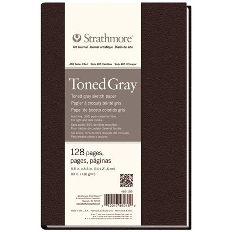 Strathmore Toned Gray 5 5 X 8 5 Sketch Pad 50 Sheets strathmore 5 5 quot x 8 5 quot 400 series sewn bound toned gray