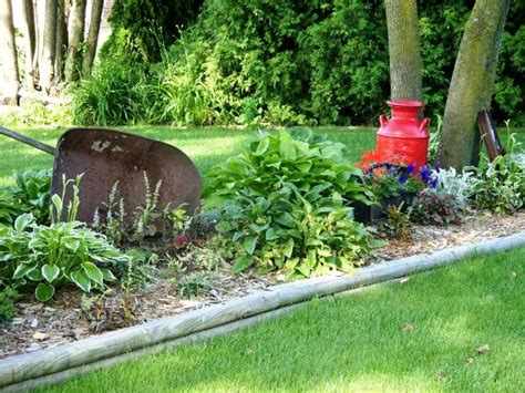 Wheelbarrow Garden Ideas Real Wheelbarrows In The Garden Flea Market Gardening
