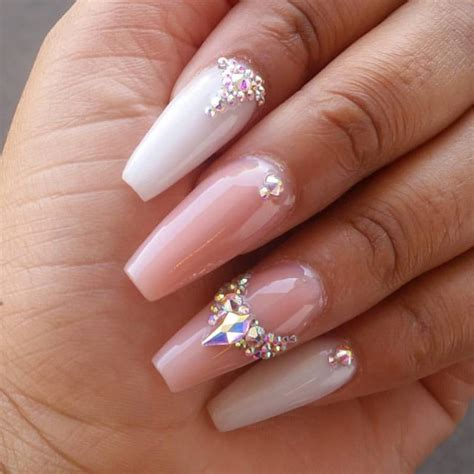 imagenes de uñas acrilicas frances punta coffin gelish blanco y rosa t u 241 as pinterest