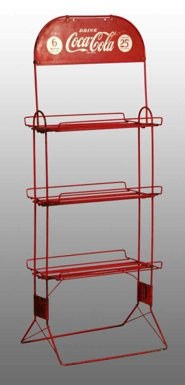 metal coca cola bottle display rack