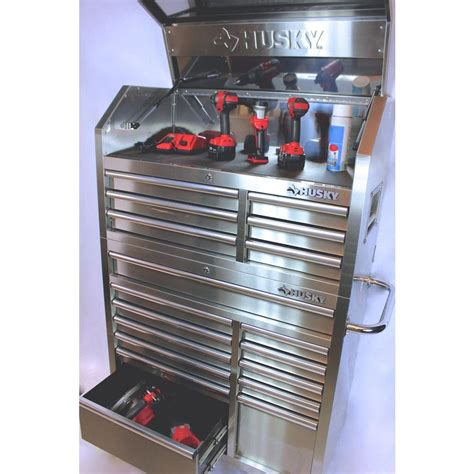 Husky 18 Drawer Tool Chest by Husky 18 Drawer Stainless Steel Tool Chest And Rolling