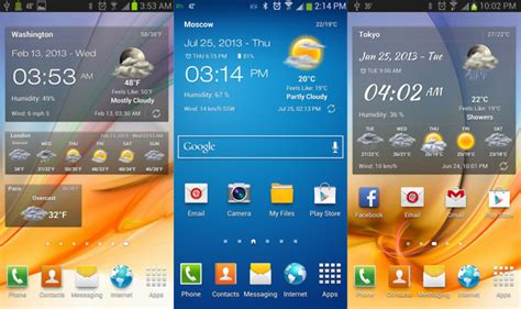 top android widgets best android clock and weather widgets november 2013 aw center