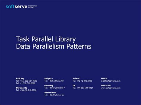 Parallel Patterns Library Gcc | task parallel library data parallelism patterns