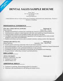 Telecommuting Sle Resume by Dental Sales Resume Sle Dentist Health Resume Sles Across All Industries