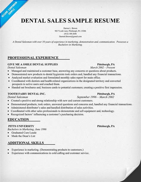 Dental Resume Format by Dental Assistant Resume