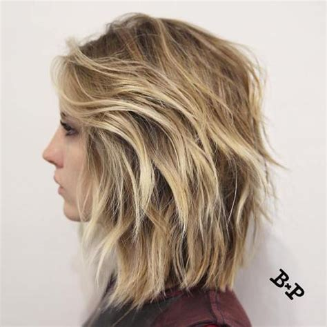 long lob 2 layers 60 messy bob hairstyles for your trendy casual looks