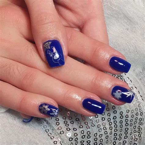 blue pattern nails royal blue nail art nail art ideas