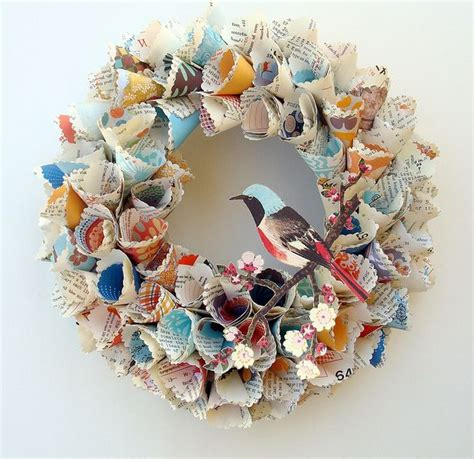 paper cone craft paper cone wreath crafty