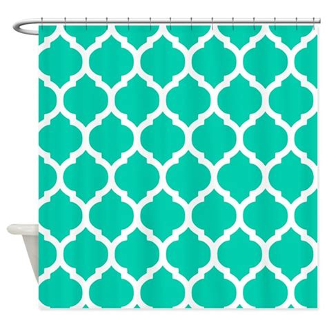 blue moroccan curtains teal blue moroccan trellis shower curtain by doodles design