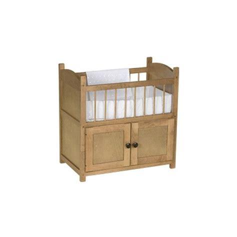 Amish Baby Crib Amish Made Wooden Doll Crib W Cabinet