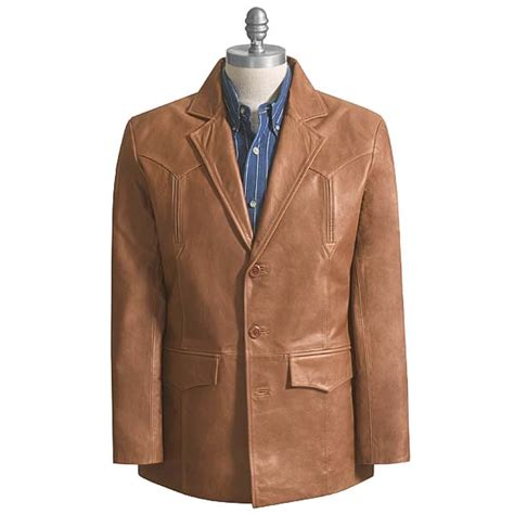 leather sport coat saguaro west nappa leather western sport coat for 48107 save 56