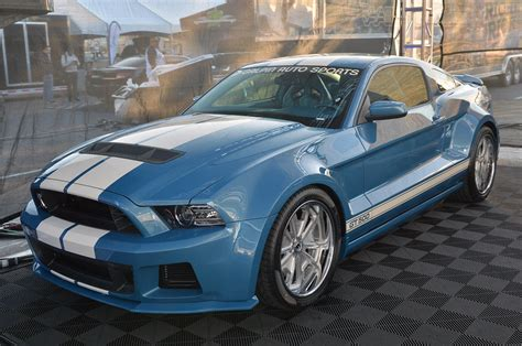 galpin mustang sema 2013 galpin auto sports goes blue with widebody