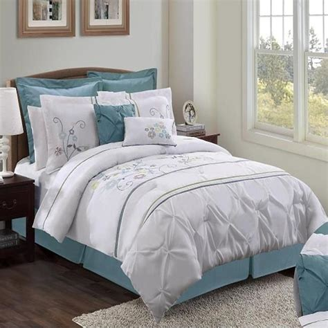 french blue bedding sydney white french blue 8 piece comforter bed in a bag