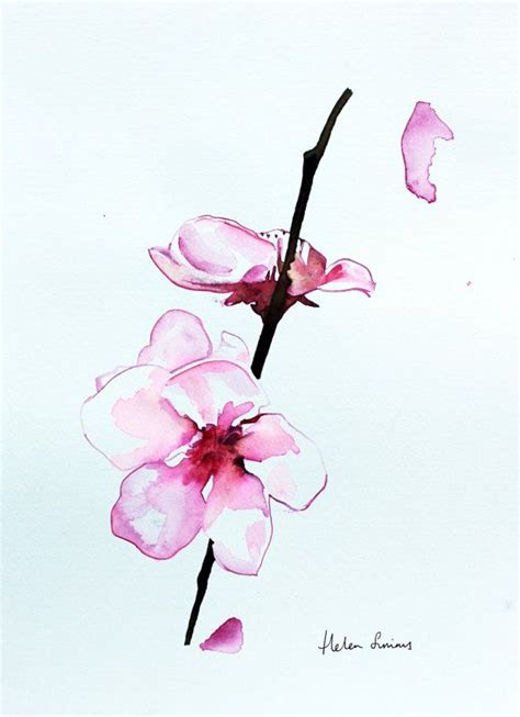 watercolor orchid tattoo original watercolour orchid flower painting by
