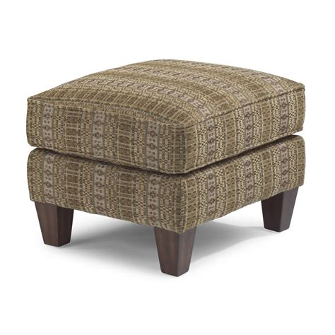 Upholstery Ottoman Flexsteel 086c 08 Stafford Fabric Ottoman Discount Furniture At Hickory Park Furniture Galleries
