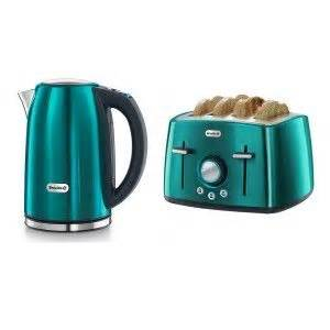 Coloured Toaster And Kettle Set Breville Rio Teal Kettle And 4 Slice Toaster Set House