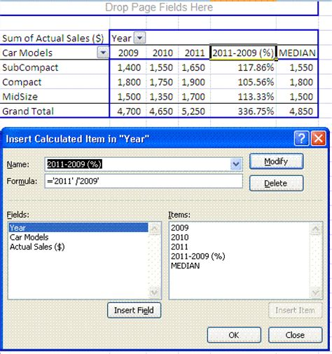 Pivot Table Calculated Item by Excel Pivot Tables Insert Calculated Fields Calculated