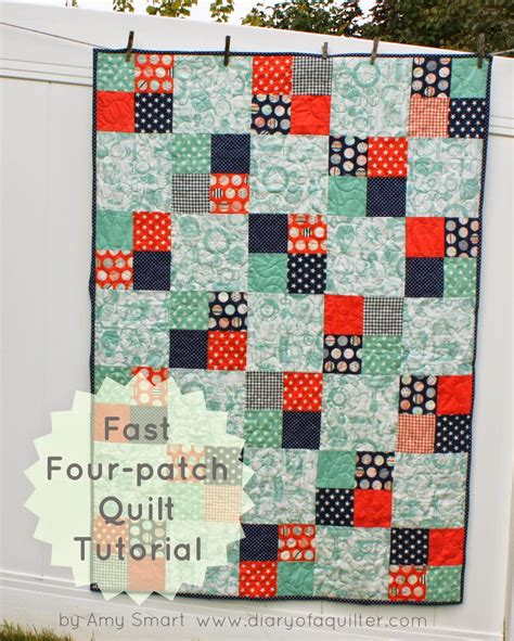 quilt tutorial videos fast four patch quilt tutorial diary of a quilter a