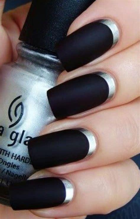 Matte Black Acrylic Nails Nails Acrylics