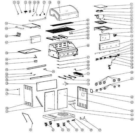 gas grill parts diagram kenmore gas grill parts model 14623679310 sears