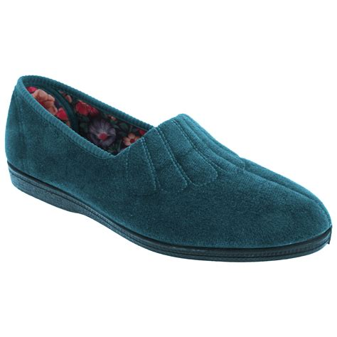 Sleeper Shoes by Sleepers Womens Zara Fan Stitch Wide Fitting