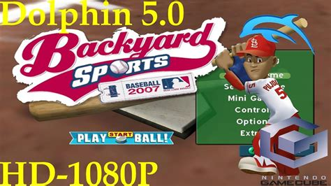 backyard sports baseball 2007 backyard baseball 2007 gamecube dolphin 50 1080p hd