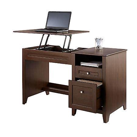 office depot adjustable desk realspace premium modern manual height adjustable desk