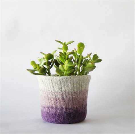 felted wool ombr 233 planter by the felterie