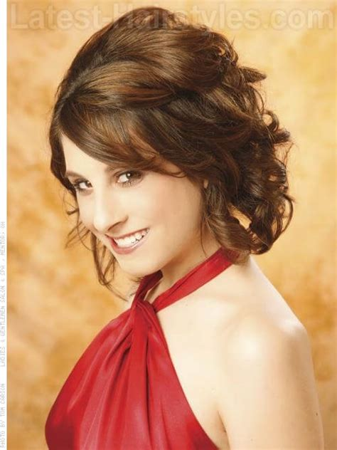 Pinned Back Hairstyles For Hair by Prom Hairstyles For Medium Length Hair Pictures And How To S
