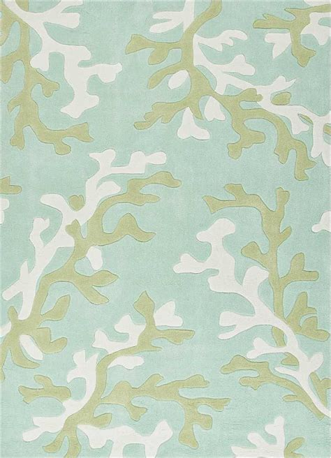 coral and turquoise rug fusion coral fixation area rug in sea green blue and white