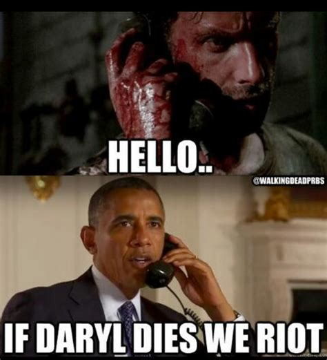 If Daryl Dies We Riot Meme - daryl crying memes image memes at relatably com