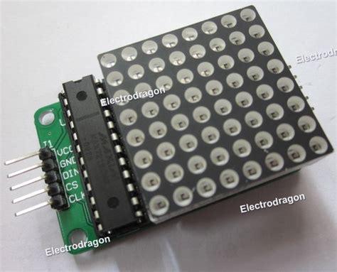 Pcb Matrix Lobang Ic retired dot matrix display kit w max7219 ic pcb electrodragon