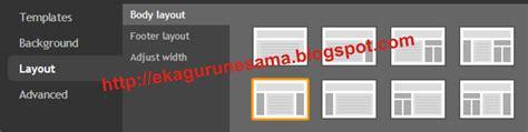 menu layout adalah menu untuk mengatur cara mengganti template dengan template rancangan blogger