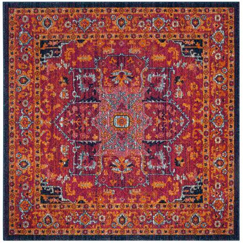 10 Square Rug Orange by Safavieh Evoke Fuchsia Orange 5 Ft X 5 Ft Square Area