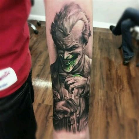joker tattoo arkham city 55 cool joker tattoos