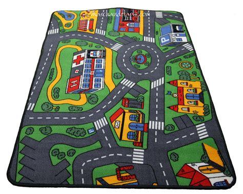 tapis chambre gar輟n voiture tapis enfant circuit voiture 93cmx133cm marchand de