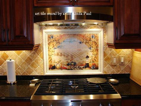 mural tiles for kitchen backsplash italian tile murals tuscany backsplash tiles