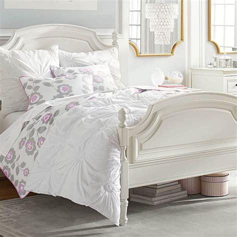 rosette comforter ruched rosette quilt sham pbteen