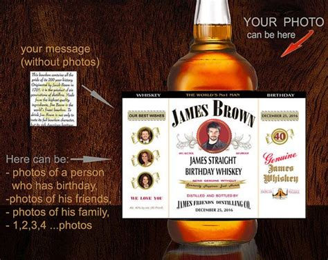 personalized whiskey label custom bourbon label custom