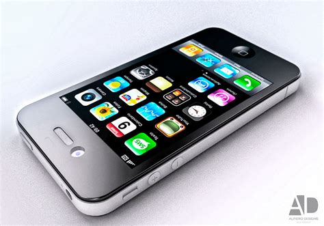 Point 3d 3d Model Of Iphone 4 by Iphone 4 3d Model 3d Model Obj 3ds 3dm Cgtrader