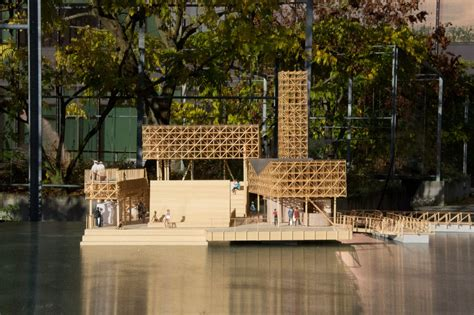 design event zürich swiss students design wooden floating island for lake