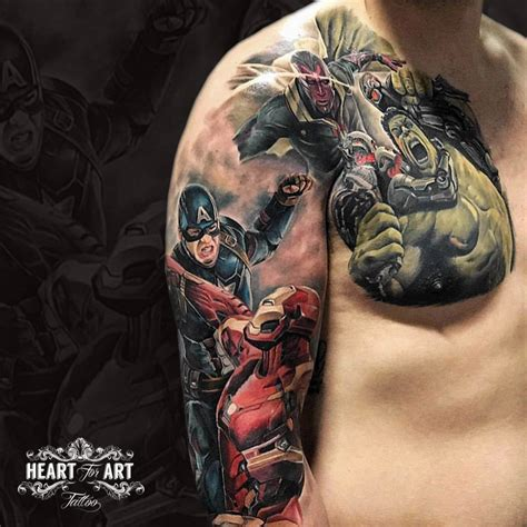 marvel tattoo danny birch artist for