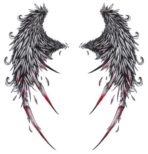 angels wings tattoo designs the tattoos broken wings tattoos desaign