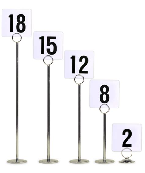 stand tables table number stands