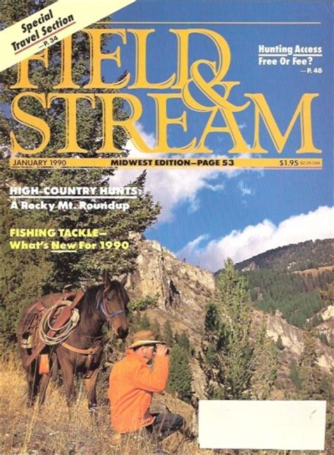 Field And Stream Gift Card - vintage field and stream magazine january 1990