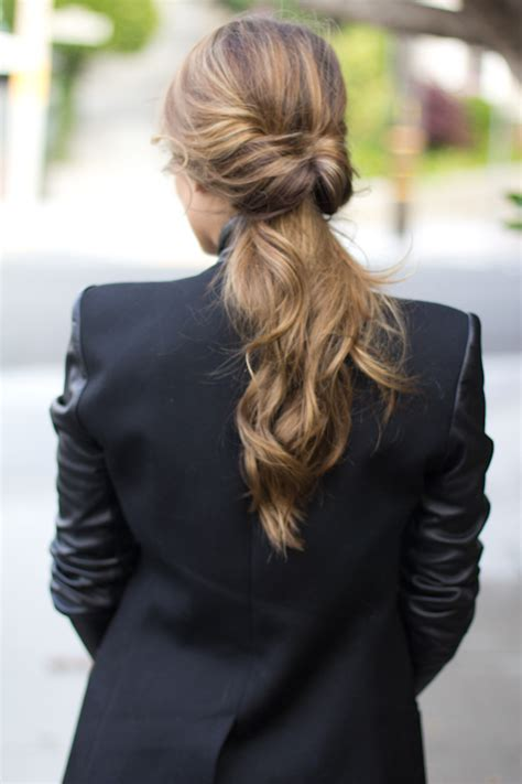 how to tie a twisted pony tail step by step gal meets glam twisted ponytail