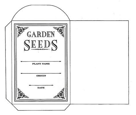 blank seed packet template ipswich garden club july 2013