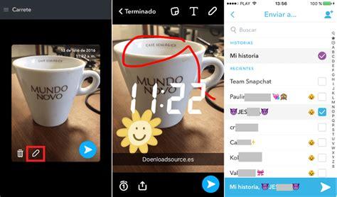 imagenes guardadas android c 243 mo compartir las im 225 genes guardadas en snapchat