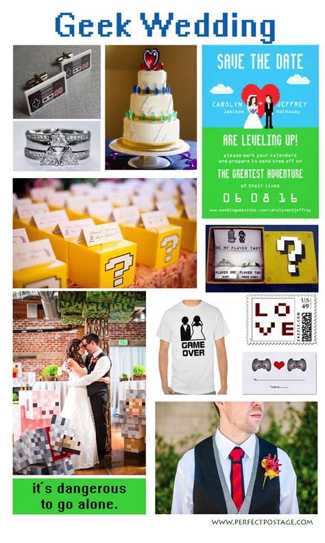 themes in geek love geek out love these gamer themed wedding ideas perfect