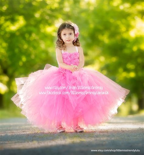Dress Tutu Flower Green Pink pink couture flower dress pink tutu dress couture tutu